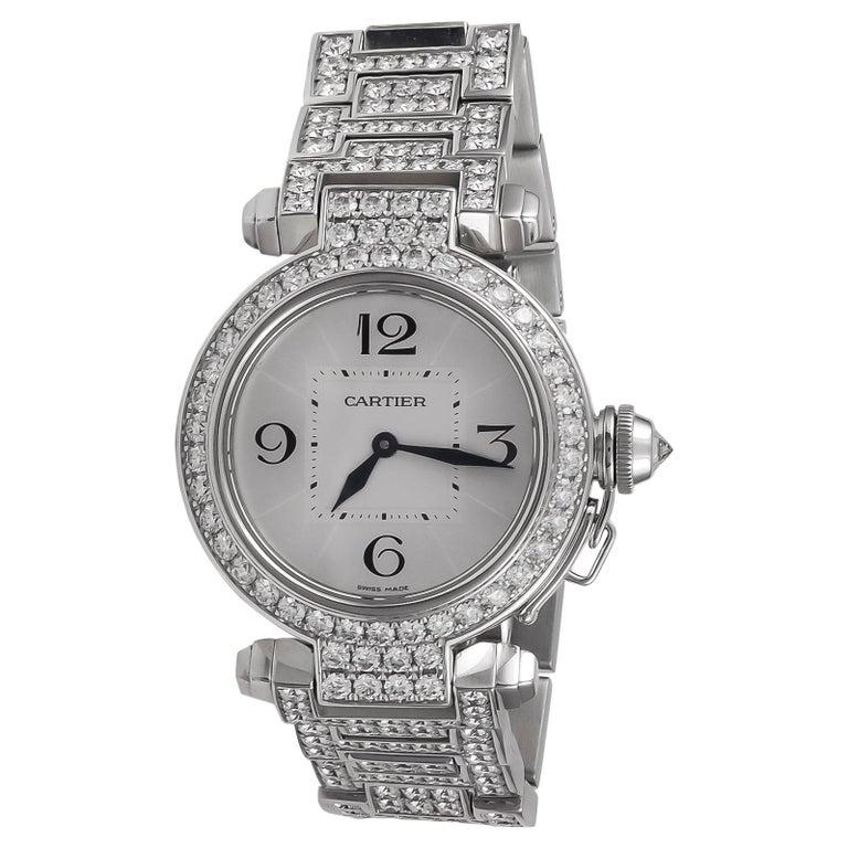 Cartier Pasha Diamond Watch For Sale
