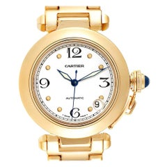 Cartier Pasha GMT 18 Karat Yellow Gold Men's Watch WJ1110H9