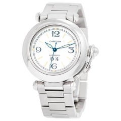 Cartier Pasha, MISSING, White Dial, Certified and Warranty