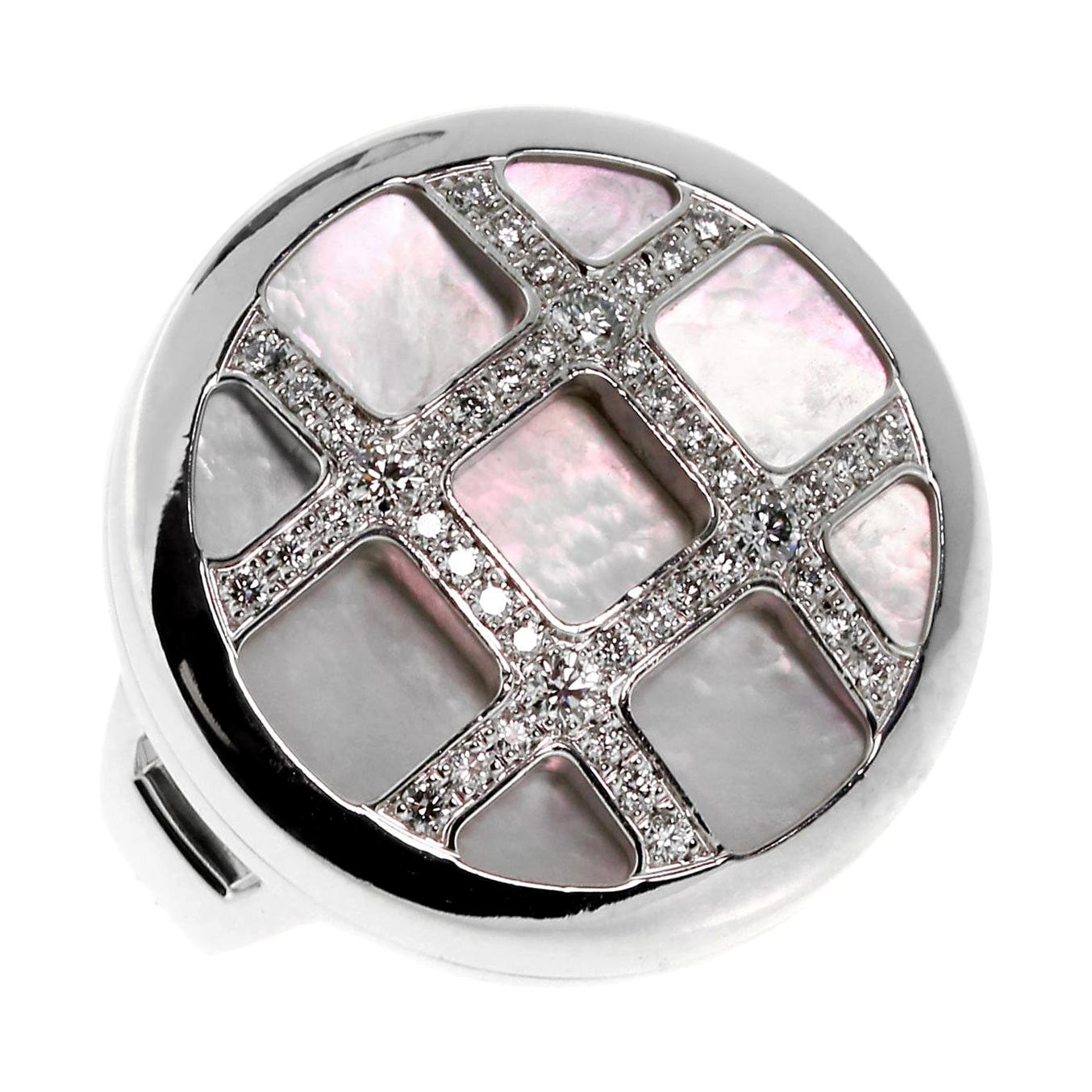 Cartier Pasha Mother of Pearl Diamond Gold Ring