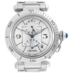 Cartier Pasha Power Reserve GMT Automatic Men's Watch W31037H3