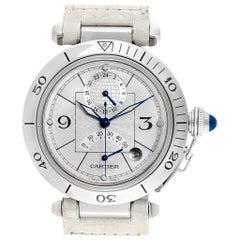 Cartier Pasha Power Reserve GMT Men's Steel Watch W3103755