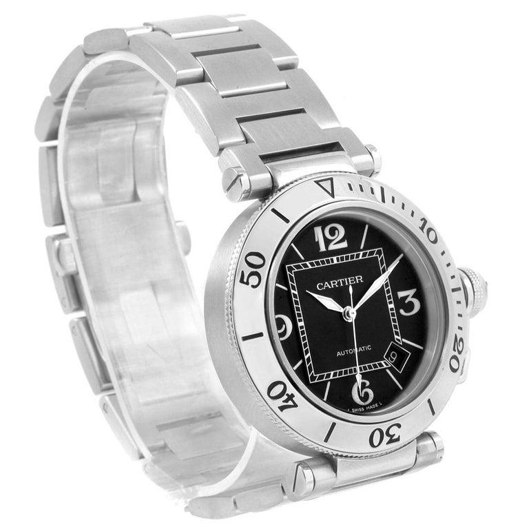 f87fdcc76605 Cartier Pasha Seatimer Black Dial Automatic Men s Watch W31077M7 For Sale 1