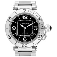 Cartier Pasha Seatimer Black Dial Automatic Men's Watch W31077M7