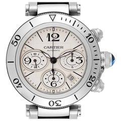 Cartier Pasha Seatimer Chrono Stainless Steel Men's Watch W31089M7