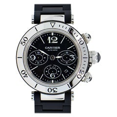 Cartier Pasha Seatimer Chronograph Stainless Steel Automatic Watch Ref 2995