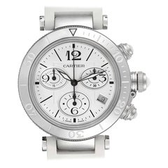 Cartier Pasha Seatimer Chronograph Ladies Watch W3140005 Box Papers