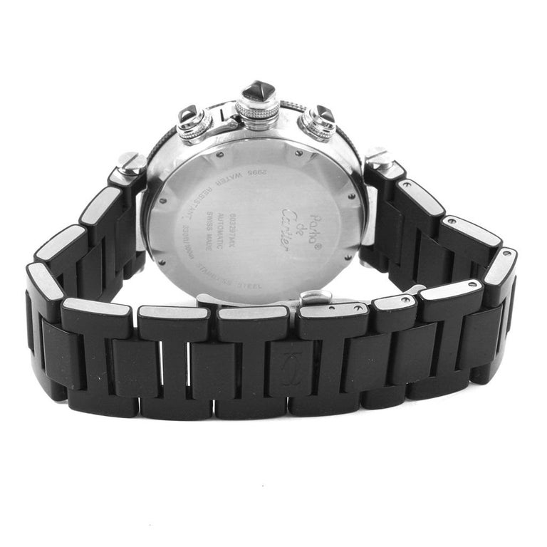 Cartier Pasha Seatimer Chronograph Rubber Strap Watch W31088U2 Box In  Excellent Condition For Sale In Atlanta a4446272b8