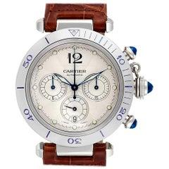 Cartier Pasha Seatimer Chronograph Steel Men's Watch W3103055