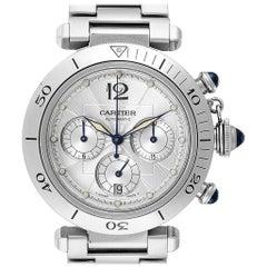Cartier Pasha Seatimer Chronograph Steel Men's Watch W31030H3