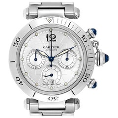 Cartier Pasha Seatimer Chronograph Steel Men's Watch W31030H3