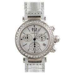 Cartier Pasha Seatimer Diamond Chronograph Watch