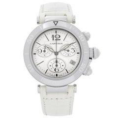 Cartier Pasha Seatimer Steel Silver Dial Quartz Unisex Watch W3140005