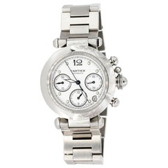 Cartier Pasha Stainless Steel Chronograph Wristwatch