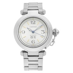 Cartier Pasha Stainless Steel White Dial Automatic Ladies Watch W31044M7