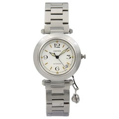 Cartier Pasha Stainless Steel White Dial Automatic Midsize Watch 1031
