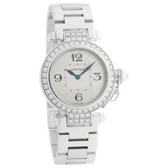 Cartier Pasha WJ11924G, Silver Dial, Certified and Warranty