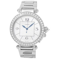 Cartier Pasha WJ1202M9, Silver Dial, Certified and Warranty