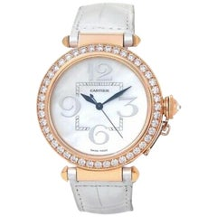 Cartier Pasha WJ124005, Mother of Pearl Dial, Certified