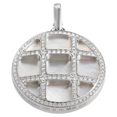 Cartier Pasha Women's 18 Karat White Gold Mother of Pearl and Diamond Pendant