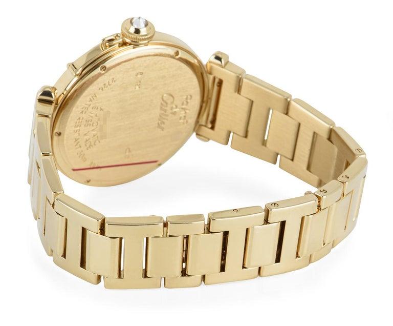 Cartier Pasha Yellow Gold Diamond Bezel WJ1203H9 For Sale 1