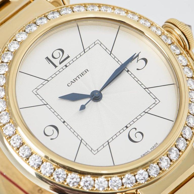 Cartier Pasha Yellow Gold Diamond Bezel WJ1203H9 For Sale 3