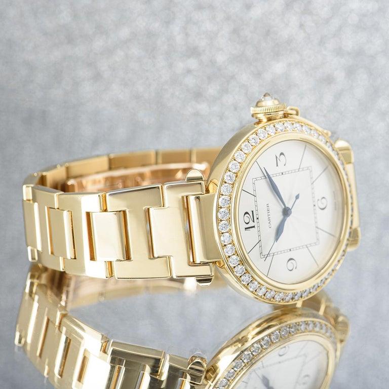 Cartier Pasha Yellow Gold Diamond Bezel WJ1203H9 For Sale 4