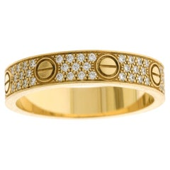 Cartier Pave Diamond Love Band Ring 'New'