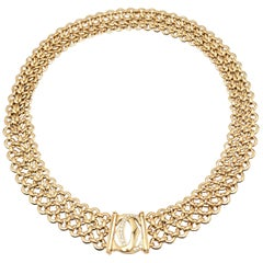 Cartier 'Penelope' Double-C Yellow Gold and Diamond Necklace