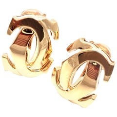 Cartier Penelope Double C Yellow Gold Large Earrings