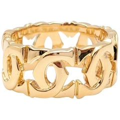 Cartier 'Penelope' Double-C Yellow Gold Ring