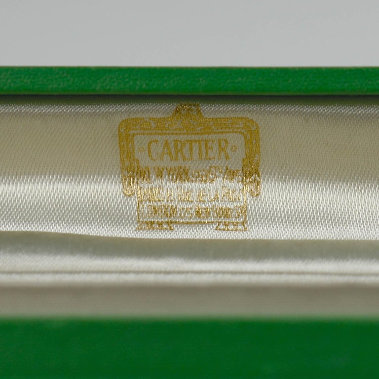 Cartier Perpetual Calendar Gold Enamel Stockbrokers Pencil For Sale 3