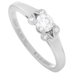 Cartier Platinum 0.33 Carat Diamond Ring
