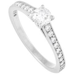 Cartier Platinum 0.49 Carat Diamond Solitaire Engagement Ring