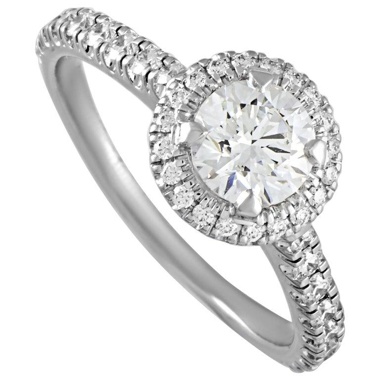 Cartier Platinum 1.18 Carat Diamond Pave Engagement Ring