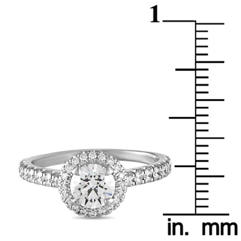 Cartier Platinum 1.18 Carat Diamond Pave Engagement Ring 1