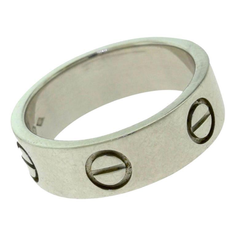 Cartier Platinum 950 Love Wedding Band Ring X-45 Ring