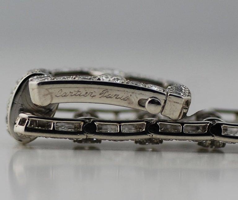 Cartier Platinum and Diamond Art Deco Bracelet For Sale 1