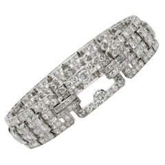 Cartier Platinum and Diamond Art Deco Bracelet