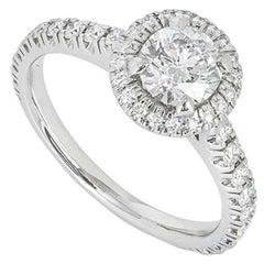 Cartier Platinum Destinée Solitaire Diamond Ring 0.70ct D/VVS1 XXX