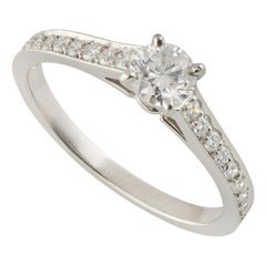 Cartier Platinum Diamond 1895 Solitaire Engagement Ring