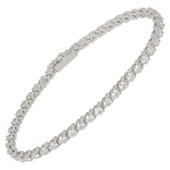 Cartier Platinum Diamond Line Tennis Bracelet 4.60 Carat