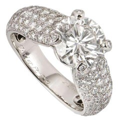 Cartier Platinum Diamond Luna Engagement Ring 2.24 Carat