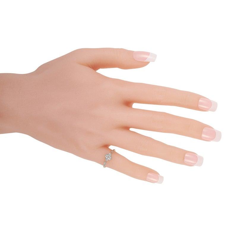 Round Cut Cartier Platinum Diamond Ring For Sale