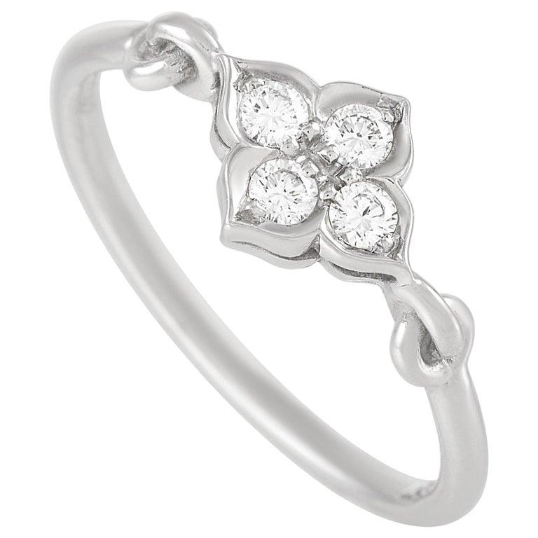 Cartier Platinum Diamond Ring For Sale