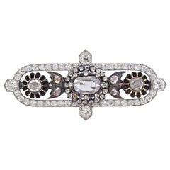 Cartier Platinum Diamond Silver Brooch Pin