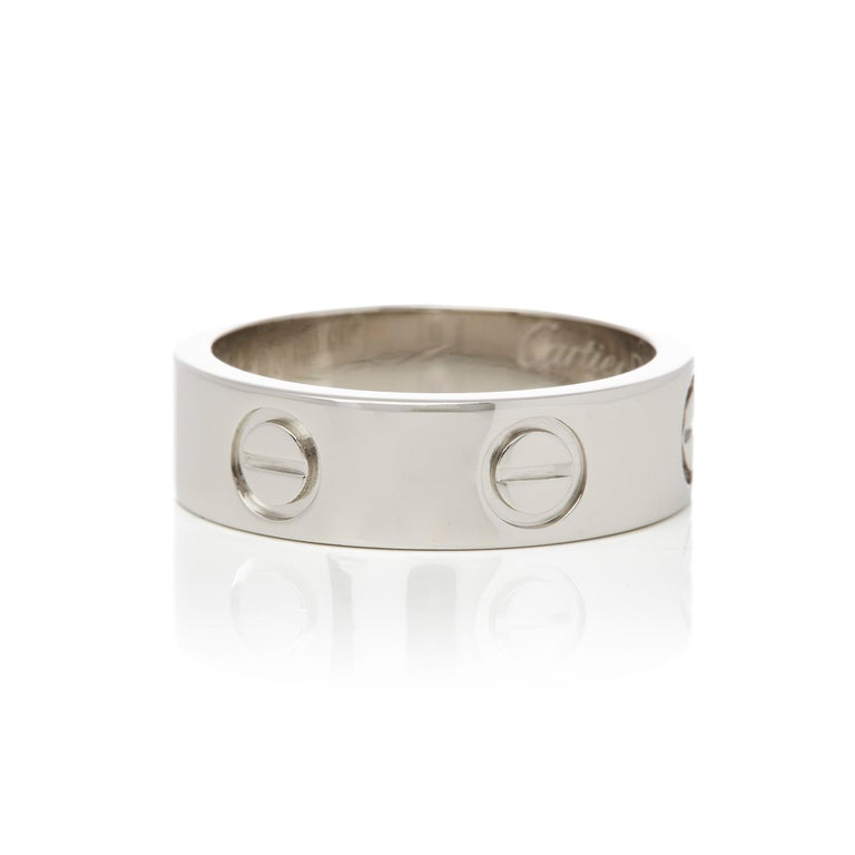 Contemporary Cartier Platinum Love Ring For Sale