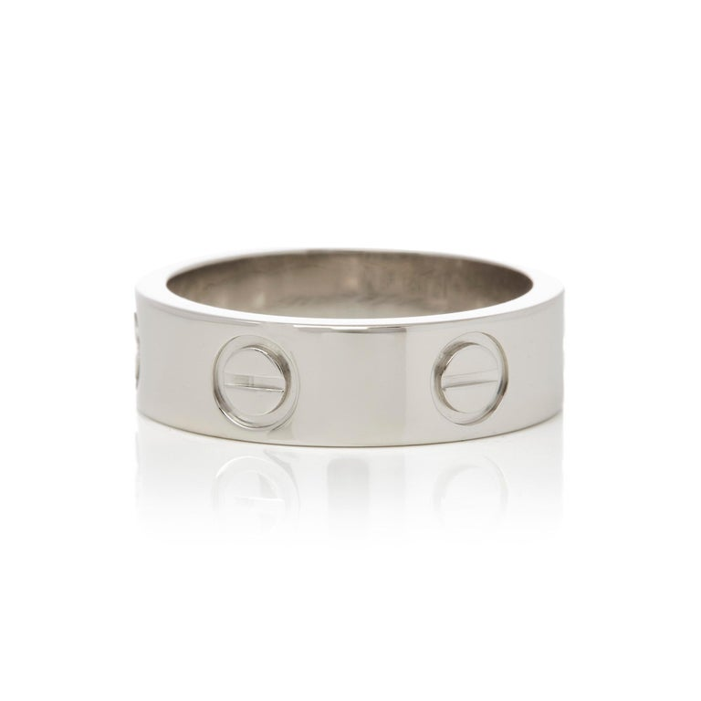 Cartier Platinum Love Ring In Excellent Condition For Sale In Bishop's Stortford, Hertfordshire
