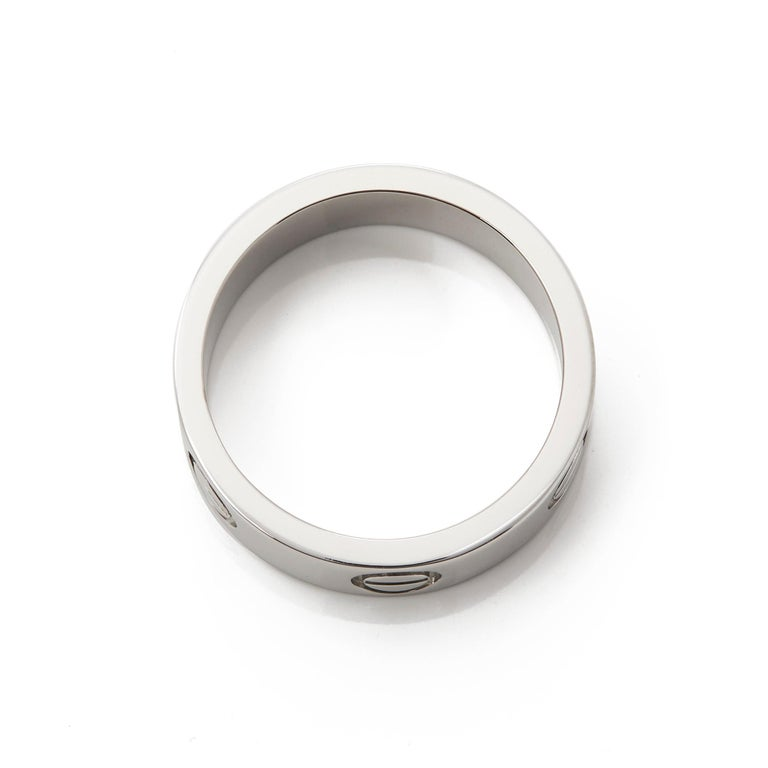 Women's Cartier Platinum Love Ring For Sale
