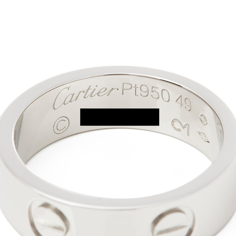 Cartier Platinum Love Ring For Sale 1